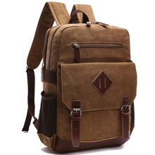 Casual Men Backpack Canvas College School Student Retro Rucksacks Male Travel Bag Multi-Function Laptop Bags Vintage Mochila CG стоимость
