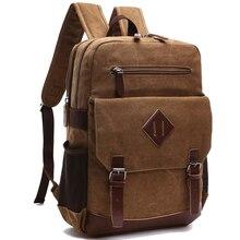 Na co dzień mężczyźni plecak płótnie College uczeń Retro plecaki męska torba podróżna wielofunkcyjny torby laptop rocznika Mochila CG