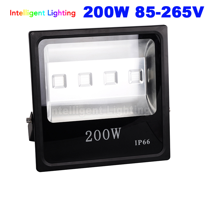 Wholesale Waterproof IP65 200W Led Flood light 85-265V outdoor lighting White/Warm White/RGB/Red/Blue/Green For Hotel Grass 30% off 2pcs ultrathin led flood light 50w black ac85 265v waterproof ip66 floodlight spotlight outdoor lighting free shipping