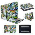 "For Apple Macbook AIR Pro Retina 11"" 13"" Laptop Cover Case Rubberized Matte Hard PC Case Shell Painted Tree Design"