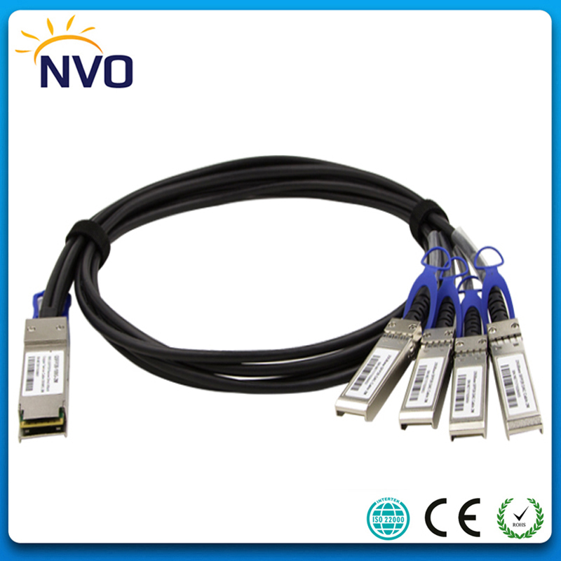100Gb QSFP28 to 4SFP28(25G) 30AWG 1M Twinax Copper Cable,100G QSFP28 to 4*SFP28 DAC Passive Direct Copper Cables