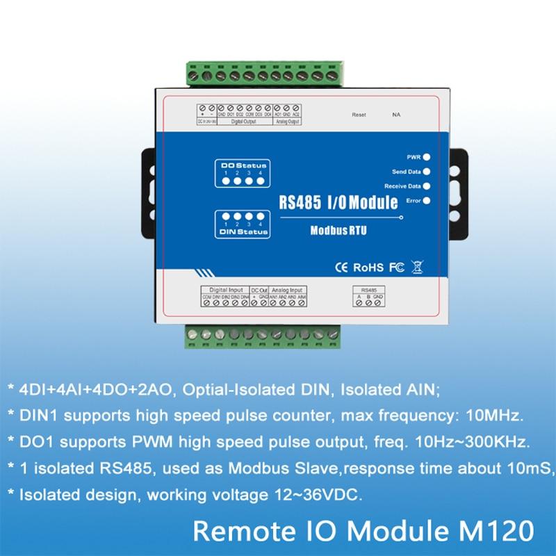 M120T Modbus Remote IO Module 4DIN Data Acquisition Module