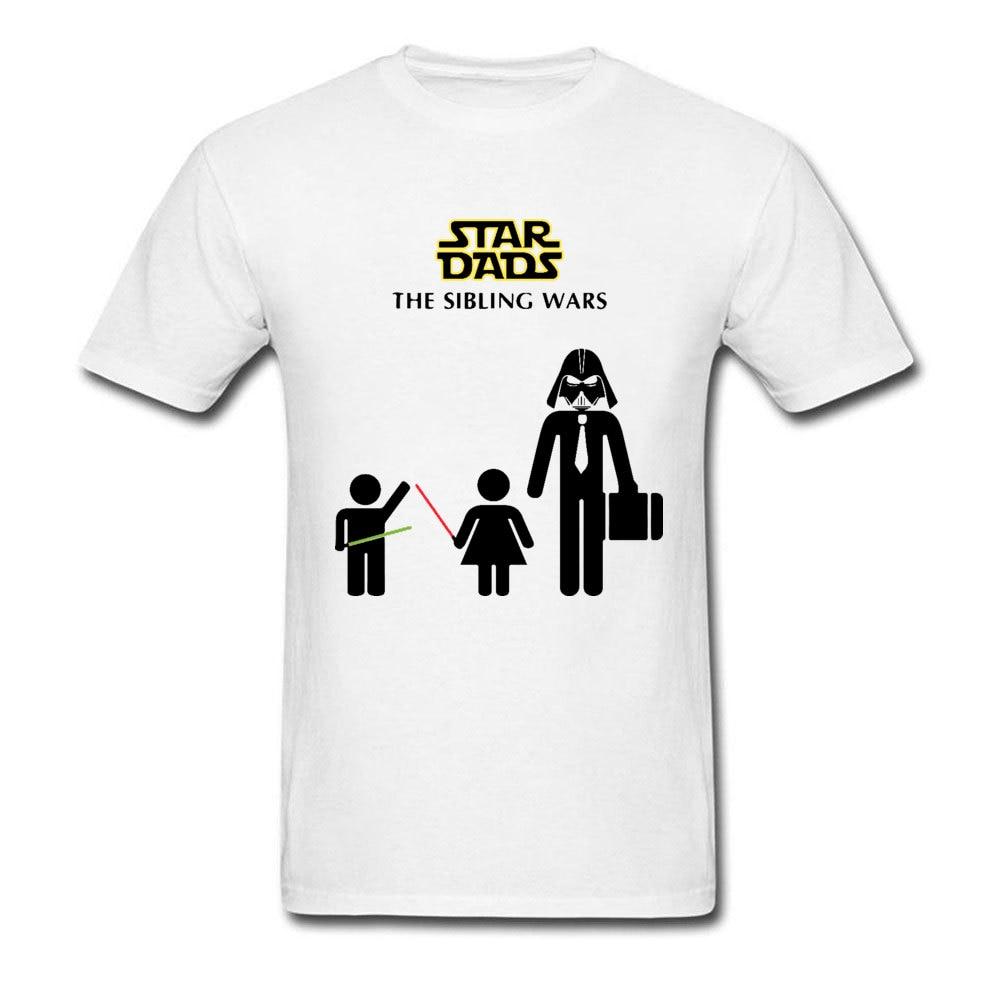 Star-Dads-The-Sibling-Wars-Darth Slim Fit Summer 100% Cotton Crewneck Mens Tops & Tees Clothing Shirt Prevailing T Shirts Star-Dads-The-Sibling-Wars-Darth white