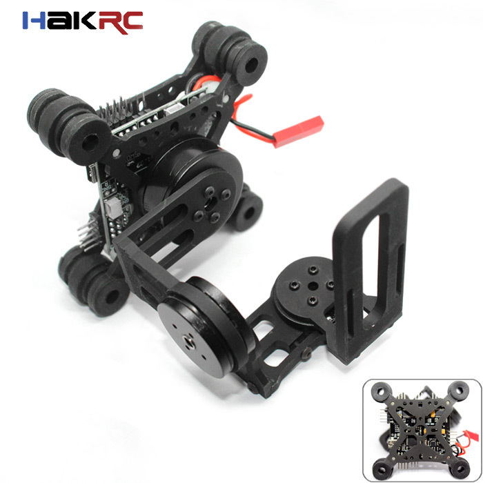 HAKRC Storm32 3 Axis Brushless Gimbal 32 bit Storm 32 Controlller Gimbal Lightweight Gopro3 Gopro4 FPV Fittings RC Drone Parts rtf ready to fly 3 axis gopro brushless gimbal fpv stablizer alexmos v2 4 fully assembled for gopro3 hero 3 big board