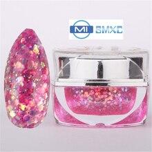 MISMXC 20ML 0.8OZ High Quality Soak Off UV Gel Shiny Colors Glitter Powder Nail Art Builder Gel 009