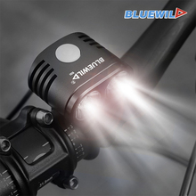 BLUEWILD Bicycle Light 2x CREE XMK T6 Lamp Bike Light Flashlight + 10400mAh Battery Pack with USB & DC Output can Charging Phone gtf 8 4v lamp special battery mountain lamp 6 section 18650 battery charging battery pack dc usb