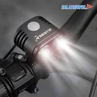 BLUEWILD Bicycle Light 2x CREE XML T6 Lamp Bike Light 10400mAh Waterproof Battery Pack Power Bank USB Charge for Phone Speaker