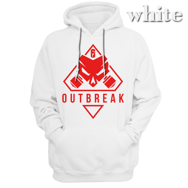 new Rainbow Six Siege Operation Chimera Logo Men Hoodies Sweatshirts Gaming R6 Siege Operation Outbreak Outerwear Hoody Casual 2