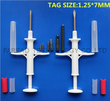 RFID injectable microchips 1.25*7mm 134.2KHz ISO11784/785 FDX-B syringe  for turtle,fish etc