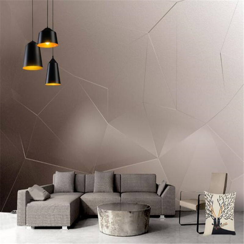 3D Wall Paper for Walls Creative Gray Non-Woven Wallpapers Abstract Retro Geometric Mural Hotel Living Room Decorative Wallpaper english wallpaper roll for baby room lovely hand painted wallpapers children wall paper mural non woven wallpapers for boy room