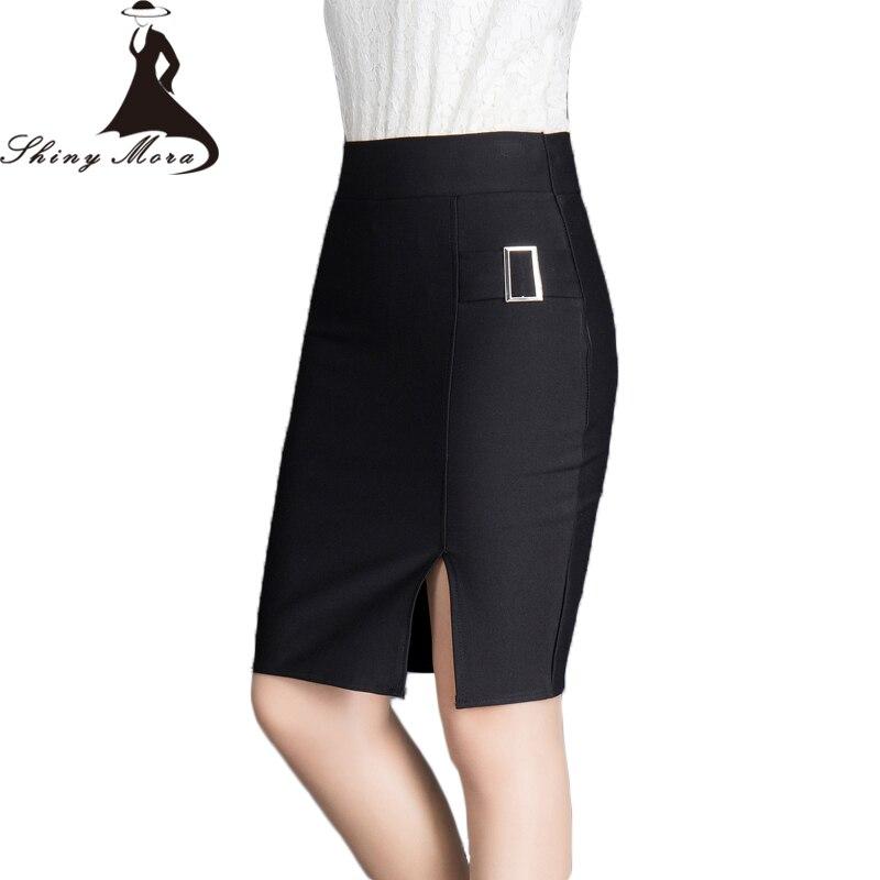 Hot Sale 2017 newest fashion Women OL Skirts Summer Female Business Suit Pencil Skirt High Waist Elegant Office Ladies Skirts