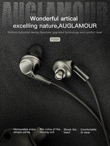 Image 3 - AUGLAMOUR F200 In Ear Earphone 10MM Graphene Dynamic Drive HIFI DJ Metal Earphone Subwoofer Sports Headset With Microphone
