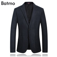 Batmo 2018 new arrival high quality casual blue blazer men,men's casual jackets ,men's suits plus-size 01821