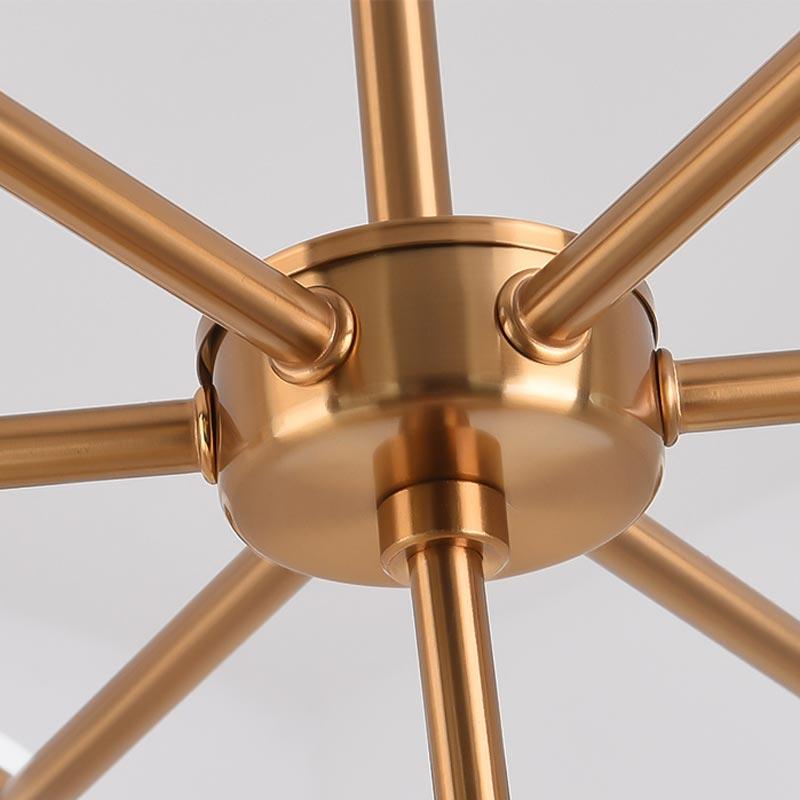 Modern Glass Led Lamp Design Chandelier Decor Home Lighting Living Room Kitchen Foyer Loft Light Fixtures Copper Lustre G9 in Chandeliers from Lights Lighting