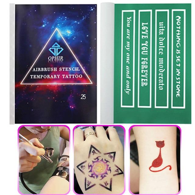 Wholesales 10 Books Reusable Airbrush Temporary Tattoo Stencils ...