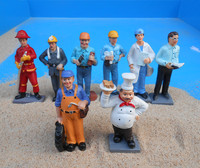 Psychological sand sandbox game Ting therapy professional character miners tire fireman bricklayer 8 pcs/set