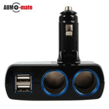 12 V-24 V Adaptador de Mechero USB Cargadores de Coche Dual USB Cargador de Coche