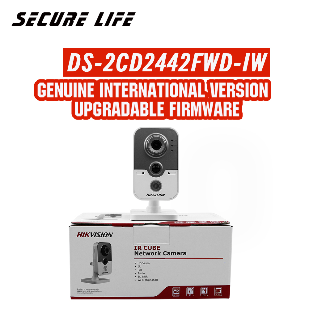 In stock DS-2CD2442FWD-IW English version 4MP WDR mini cube cctv security POE camera wifi, wireless ip camera wireless ip camera hikvision ds 2cd2142fwd iws 4mm 4mp wdr poe dome cam security camera wifi monitor english version upgradable
