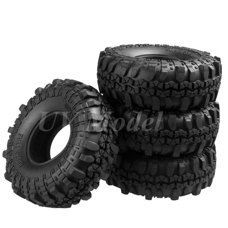 4pcs 110MM 1.9 RC 1:10 Rubber Tyres Tires for 1:10 RC Rock Crawler Wheels SCX10 RC4WD D90 D110 4pcs rc crawler truck 1 9 inch rubber tires