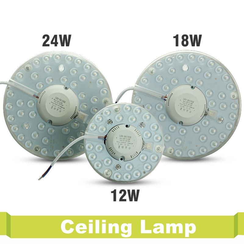 12W 18W 24W Round PCB LED Board Light LED Board Panel Circular Tube Lights Lamp Round PCB LED Board Light Ceiling lamp & Driver swiss military by chrono smp36040 11