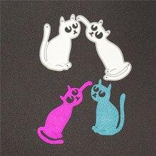 2Pcs/Set Cats Metal Cutting Dies Scrapbooking Animal Craft For DIY Embossing Paper Crad Decorative Cutter