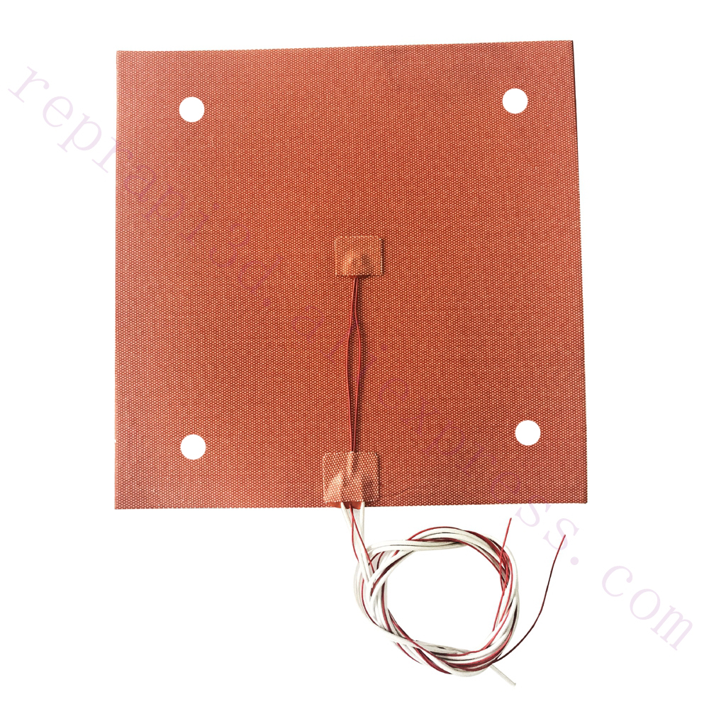 USA Material Ender 3s Flexible 235x235mm Silicone Heater 24V 220V 110V Heated Bed Build Plate for