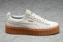 Новое поступление Puma by Rihanna замшевые криперы Женская и мужская обувь   дышащая бадминтон обувь кроссовки 784ee8916de0b