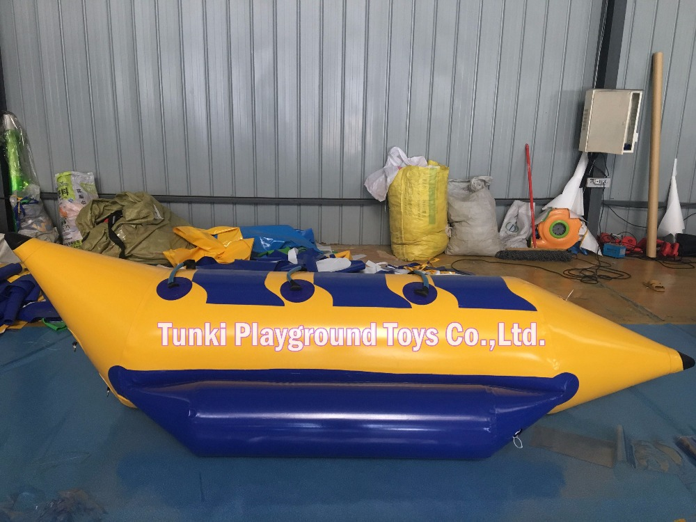 Persevering Water Sports Inflatable Banana Boat Ride For 3 Persons , Free Shipping With Dhl/fedex, Free Blower (ce/ul) Fragrant (In) Flavor