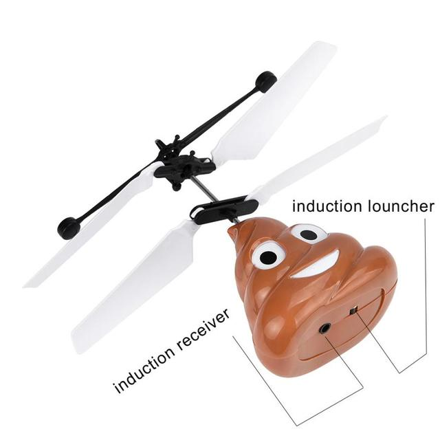 Hand Flying Poop Ball Mini Induction Suspension RC Aircraft Flying Toy Drone t13