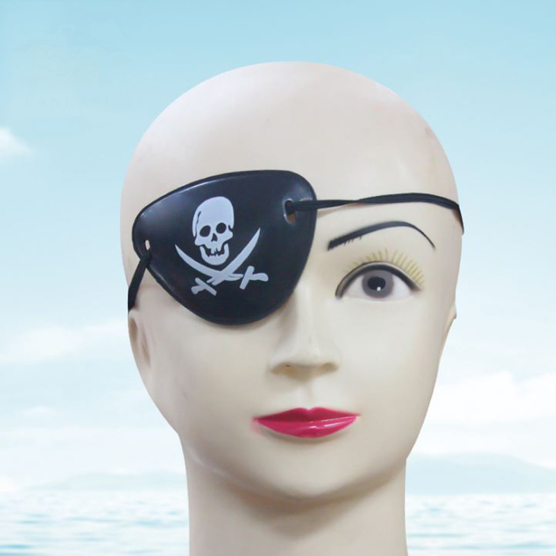 10 pcs/lot Hot sale Pirate Eye Patch Halloween Costumes Pirates of The Caribbean A Masquerade Accessories Cyclops Goggles