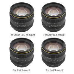 Kamlan 50mm f1.1 II APS-C duża przysłona obiektyw z ręczną regulacją ostrości dla kamer bezlusterkowych