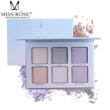 Base De Rosto Iluminar Pó Iluminador Shimmer 6 Cores Da Paleta de Maquiagem de Alta Gloss Bronzers Contorno Destaque Prata Dourada