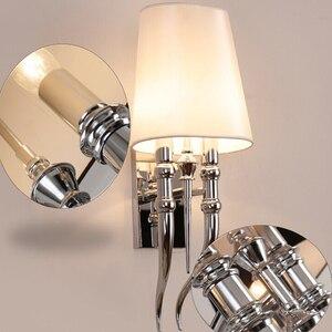 Image 4 - クリエイティブ led 壁ランプホテル現代の鉄の壁ランプダイニングリビングルームヘッド AC85 265V 燭台照明器具