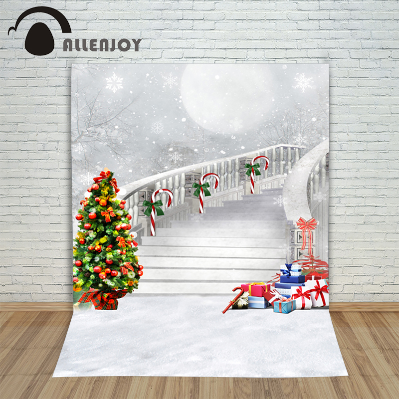 Christmas backgrounds for christmas photo studio Tree Gift Scepter Bow kids photocall wonderland background photography backdrop christmas background pictures vinyl tree wreath gift window child photocall fairy tale wonderland camera photo studio backdrop