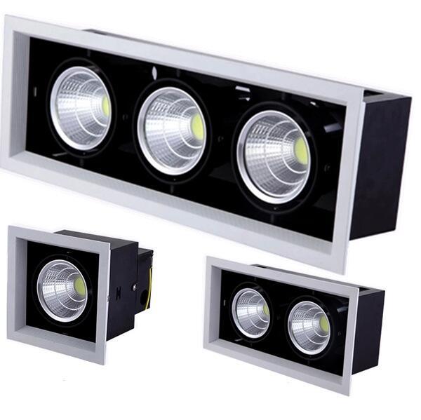 Doppel Dimmbare Led downlight licht Decke Spot Licht 10 w 20 W 30 W ac85-240V decke einbau Lichter Innen Beleuchtung