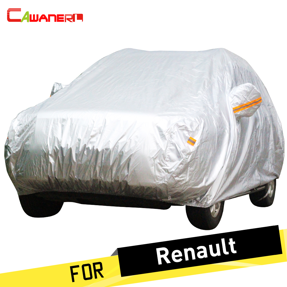 Cawanerl Car Cover Auto Sun Anti UV Snow Rain Protection Cover Dust Proof For Renault Modus