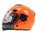 Professional Modular Motorcycle Helmet double visor system helmet switch between open face helmet to Full face helmet