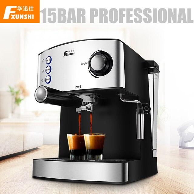 15 Bar Automatic Espresso Coffee Machine Professional Printer Crema Italian Maker Electric Milk Steamer