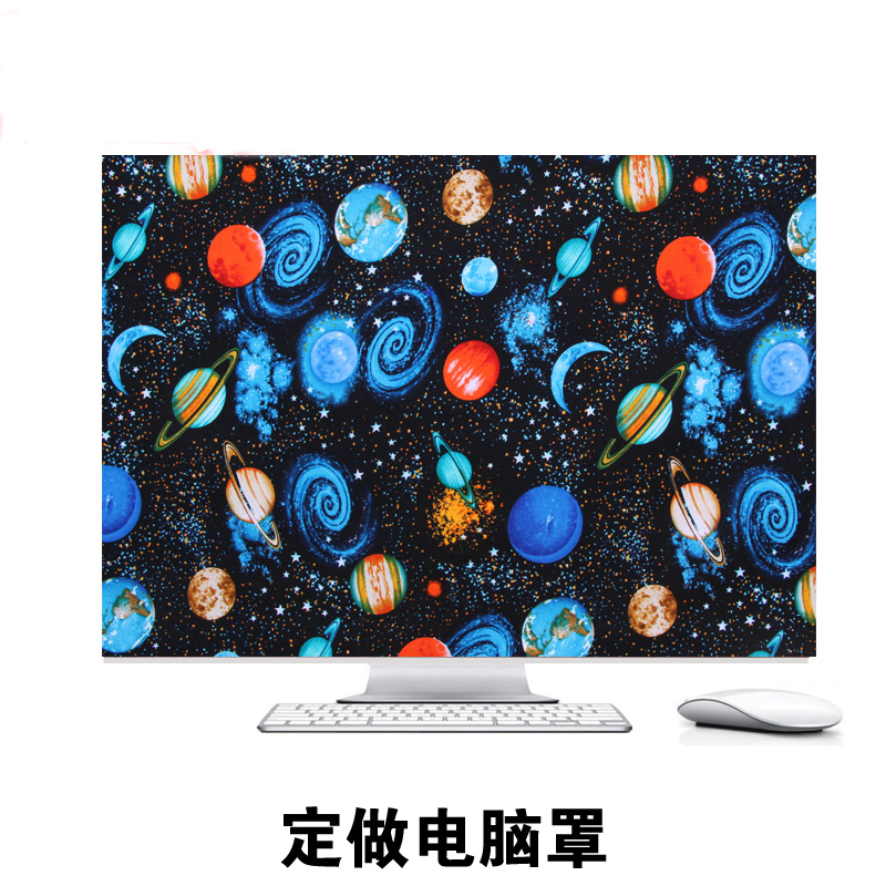 все цены на NEW!! HANDMADE 100% special price computer Dust cover + for imac 27 inch colorful cosmos+ free shipping онлайн