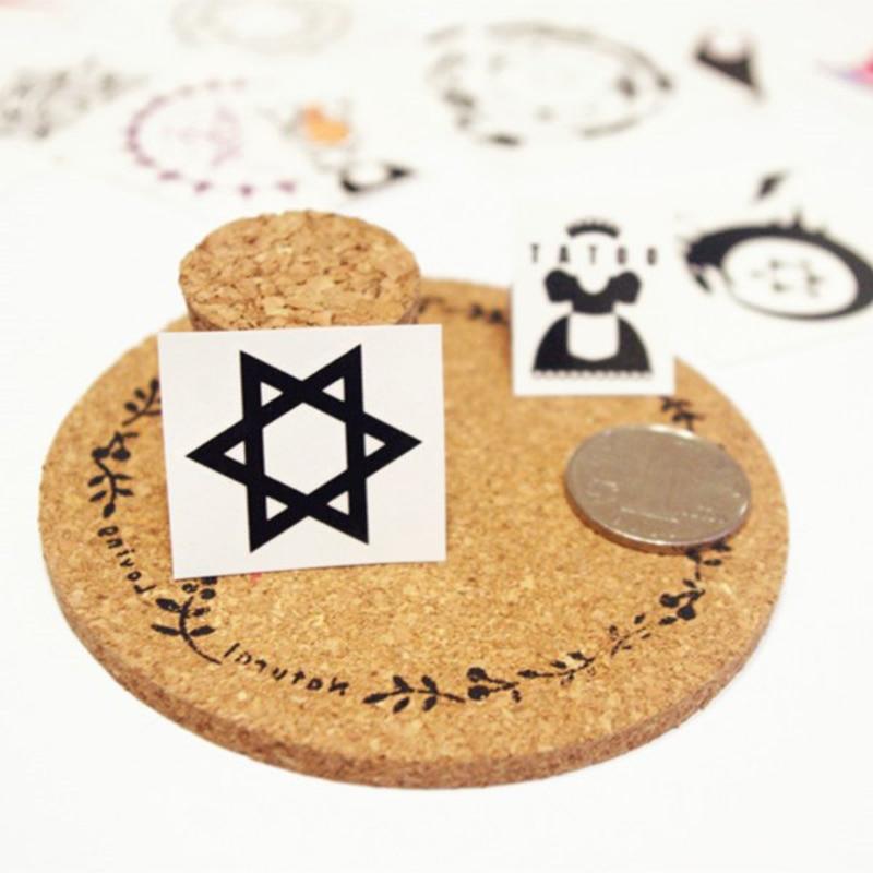 Hexagram Cute trend Animacija Crtani film logo tetovaža 3cm * 3cm - Klasične igračke - Foto 4