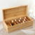 Madera De Bambú de Madera Maciza pura de Alta Caja De Almacenamiento Caja de Almacenamiento de Aceite de 26 Puede Poner Adornos