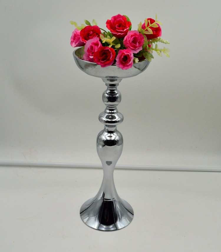 38 50cm tall silver flower vase flower european style for Articles decoration