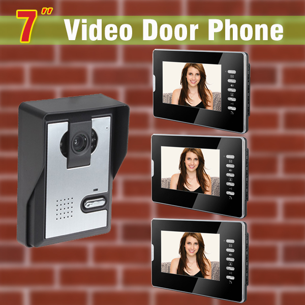 7 inch screen video door phone intercom system night vision door camera visual intercom video doorbell Kit