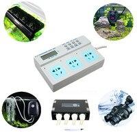 3 trong 1 Lập Trình LCD Kỹ Thuật Số Điện Hẹn Giờ Ổ Cắm Kiểm Soát Thời Gian Đối Với Fish Aquarium Chiếu Sáng Nóng Lọc Wavemaker Bơm Định Lượng
