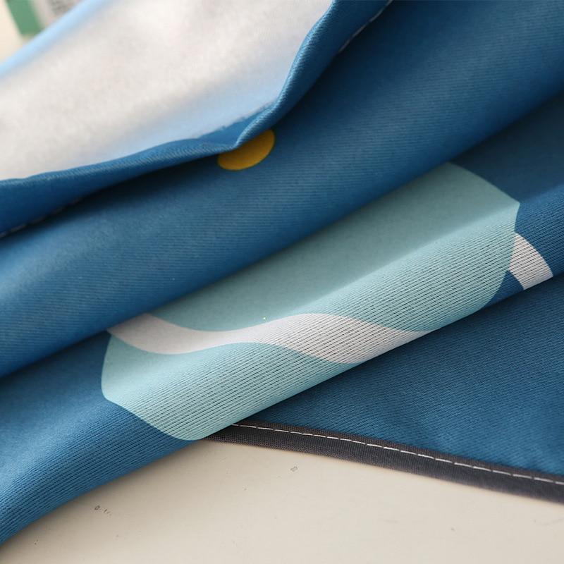 [byetee] Bande Dessinée Moderne Bleu Planète Rideau Salon Rideau - Textiles de maison - Photo 3