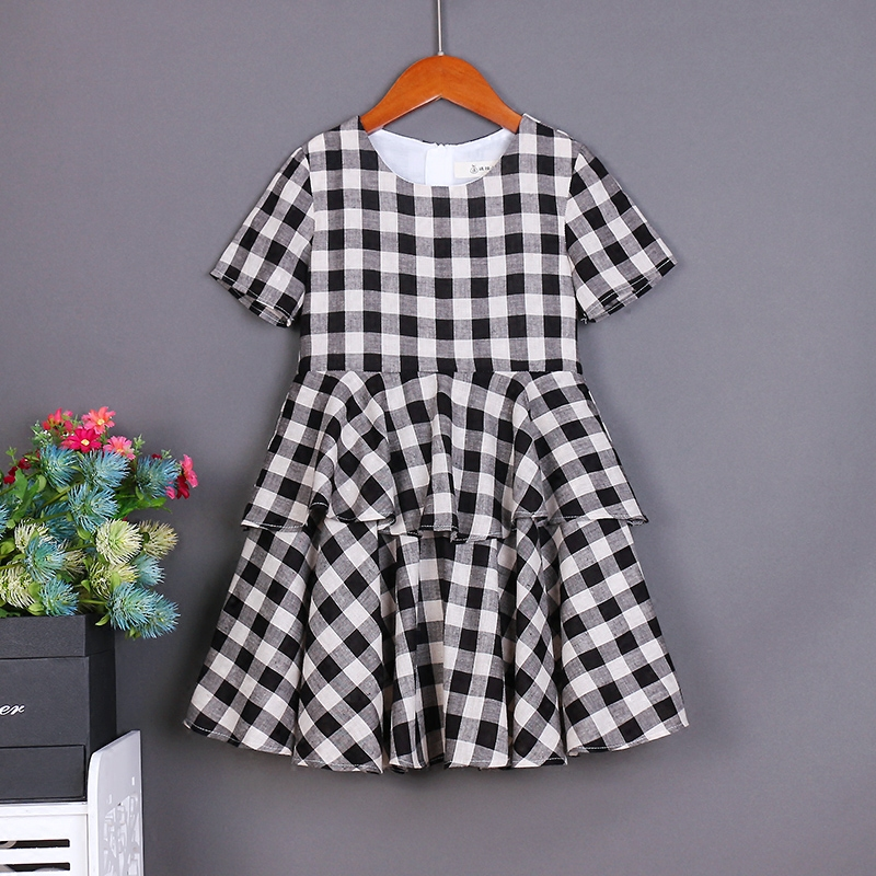 Summer children clothes XL women lady family matching clothes mother daughter dresses infant kids mom baby girls 24M - 15Y dress checcivan family summer t shirts mother
