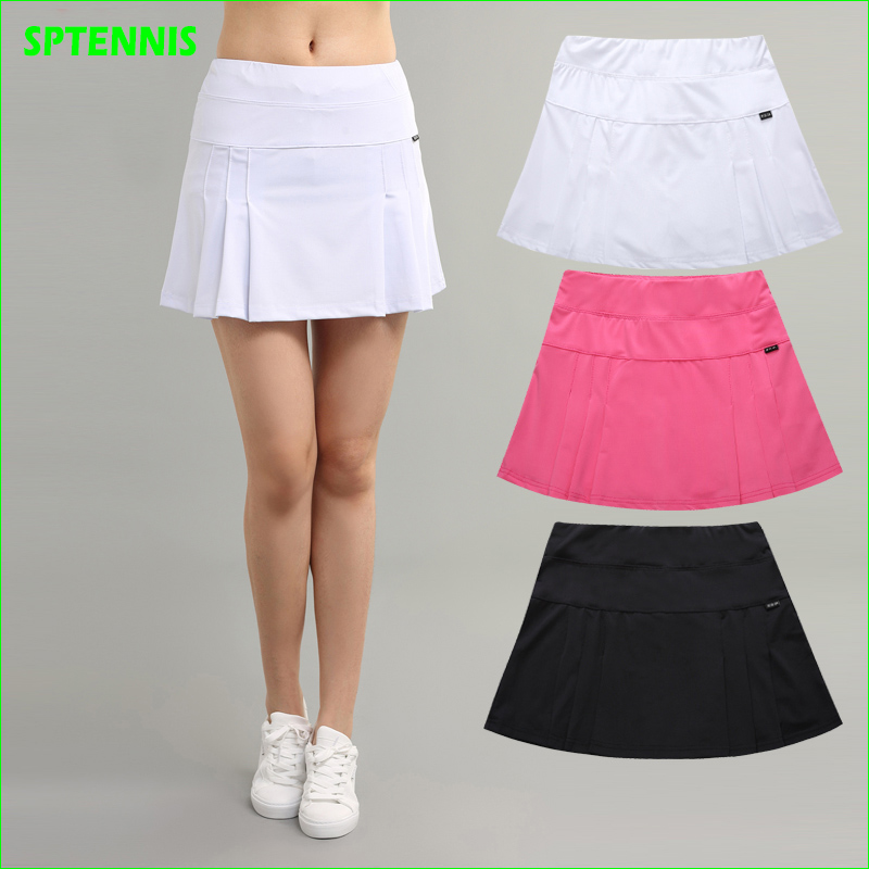 NEW Pro Tennis Badminton Skirt Woman Sport PingPong Skirts With Inside Pocket for Ball Quick Dry