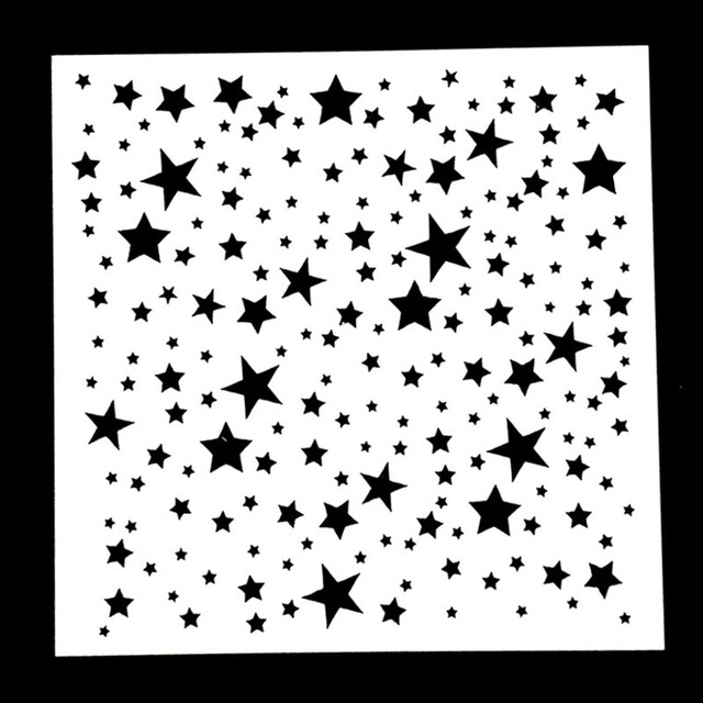 1pc Twinkle Star Shaped Reusable Stencil Airbrush Painting Art Diy