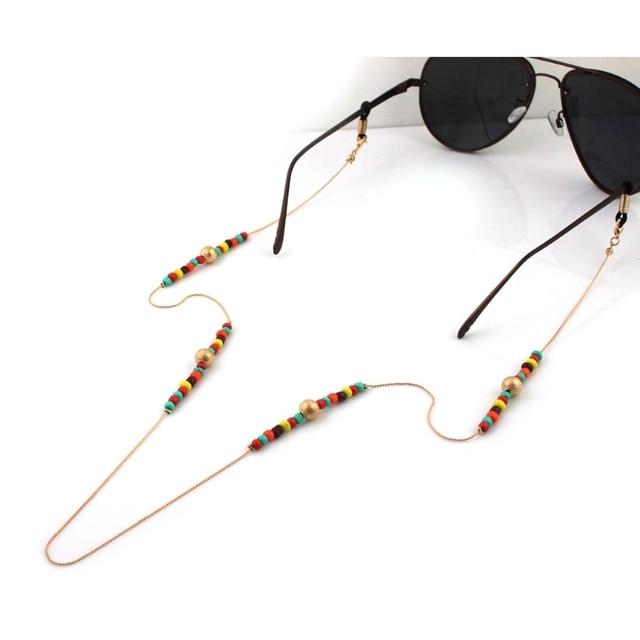 144fa18709e3 70cm Fashion Reading Glasses Chain Beads Sunglasses Holder Lanyard Metal Neck  Strap Rope Eyewear Accessories Lanyards