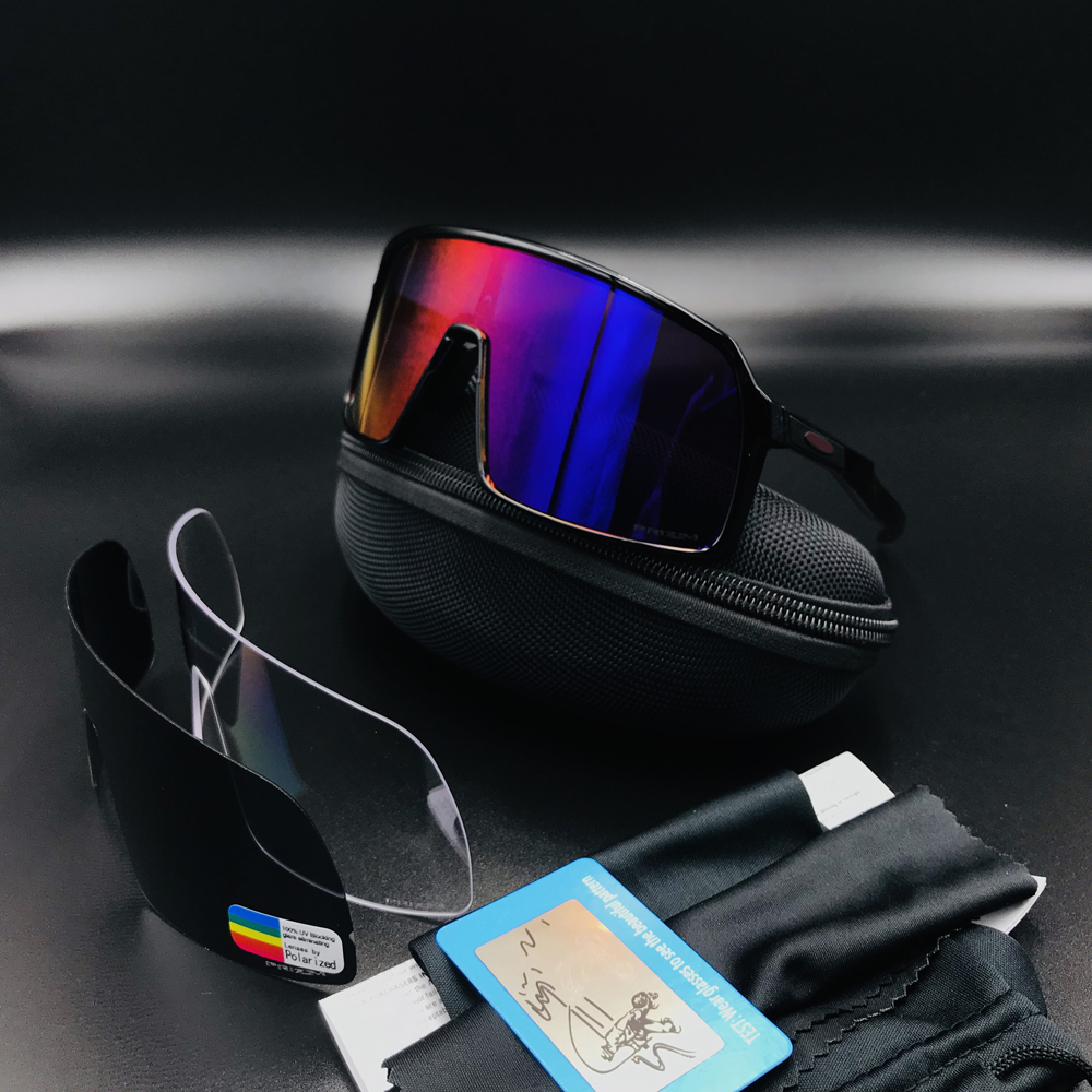Polarized Cycling Sunglasses Bicycle-Eyewear Riding-Goggles Road-Bike UV400 Sport Running title=